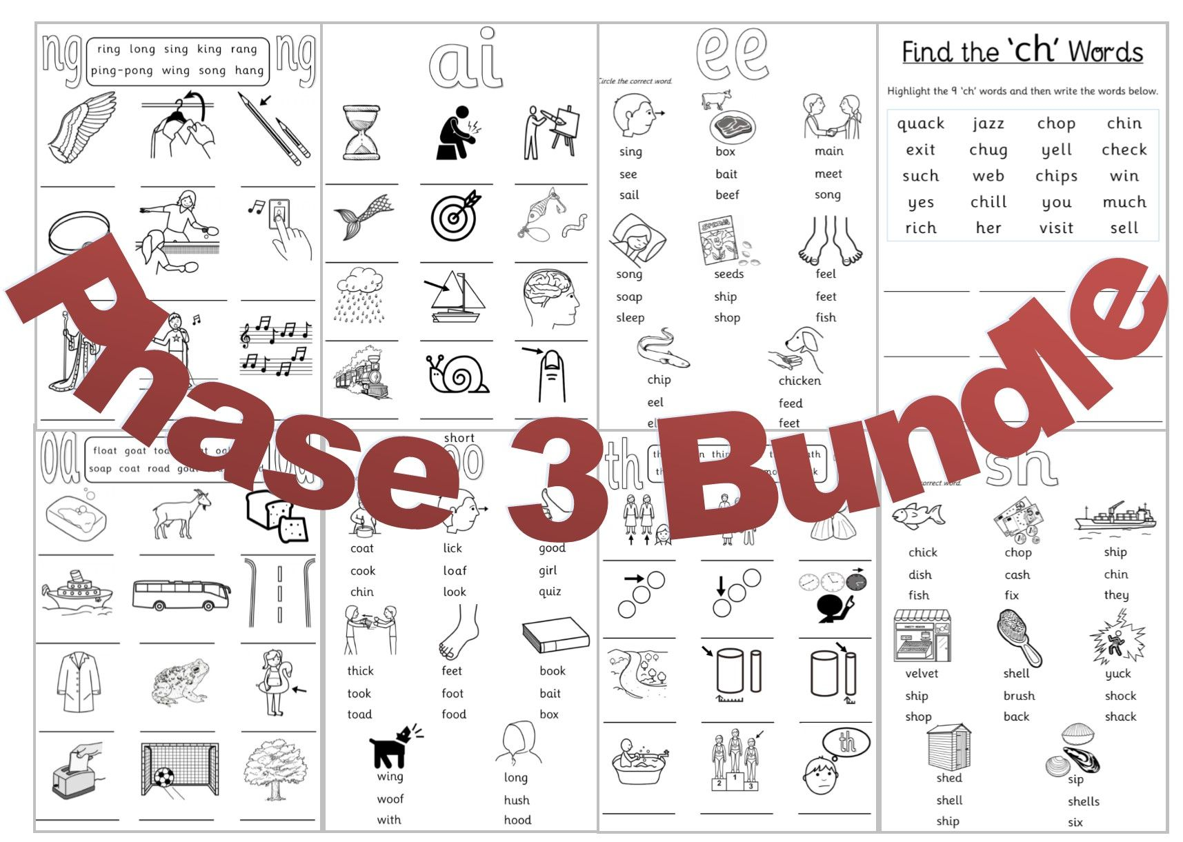 Phonics Phase 3 Bundle
