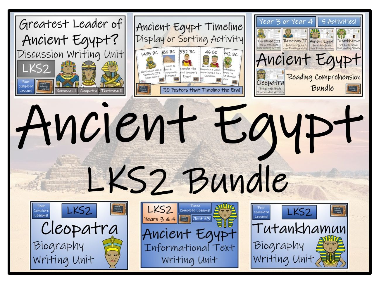 Lks2 Ancient Egypt Reading Comprehension Amp Writing Bundle