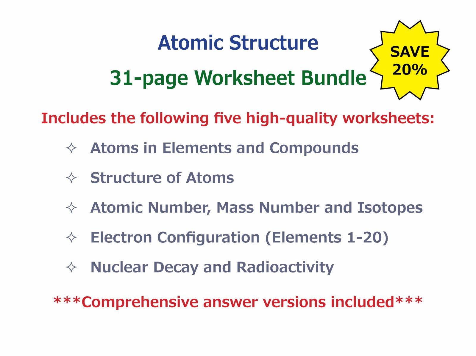 Worksheet Electron Configuration Worksheet And Lots More