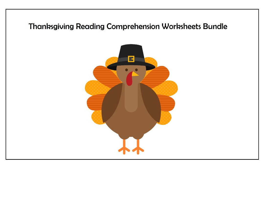 Thanksgiving Reading Comprehension Worksheets Bundle Save
