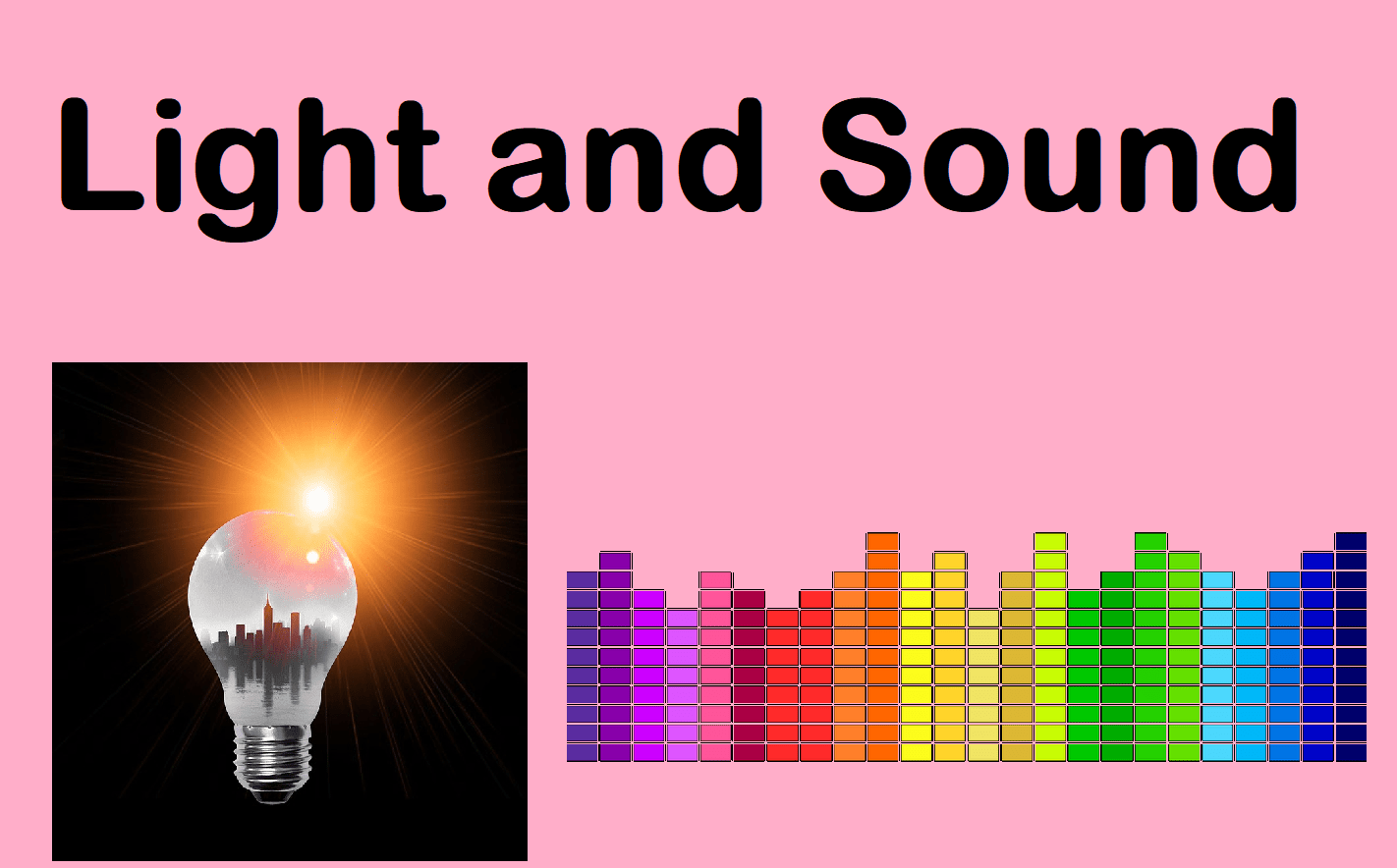 Sound And Light Bundle 13 Lessons