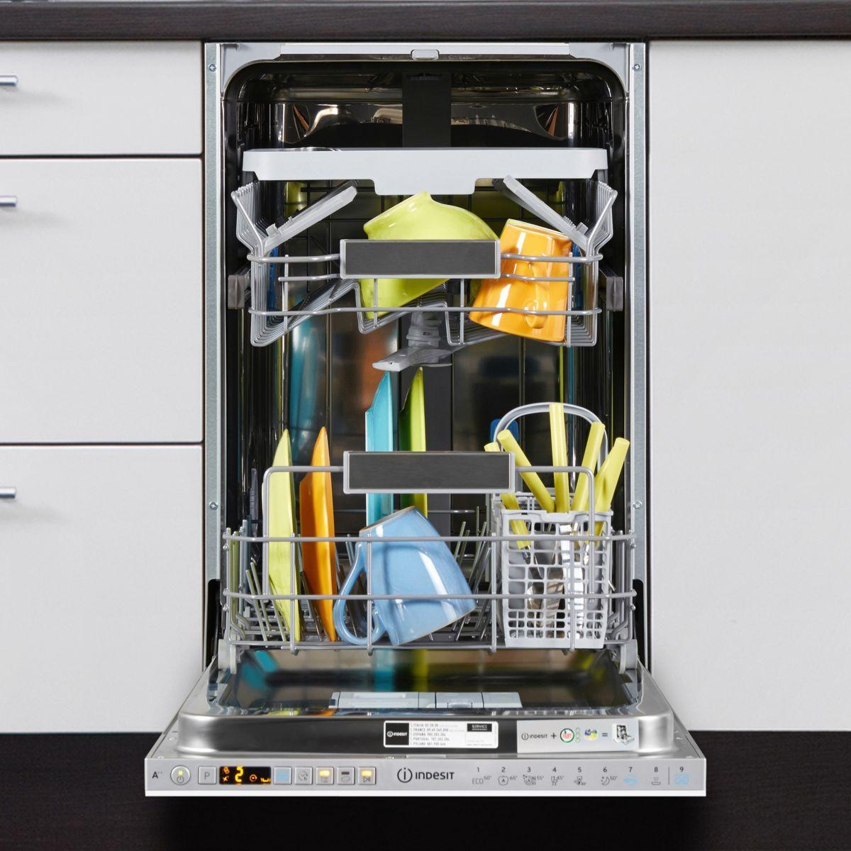 lave vaisselle encastrable 45 cm indesit dsio3t224ce 10 couverts