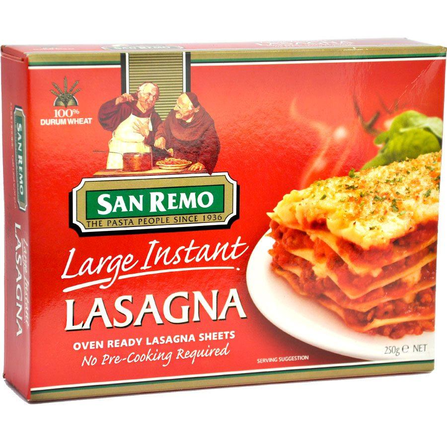 instant lasagne sheets