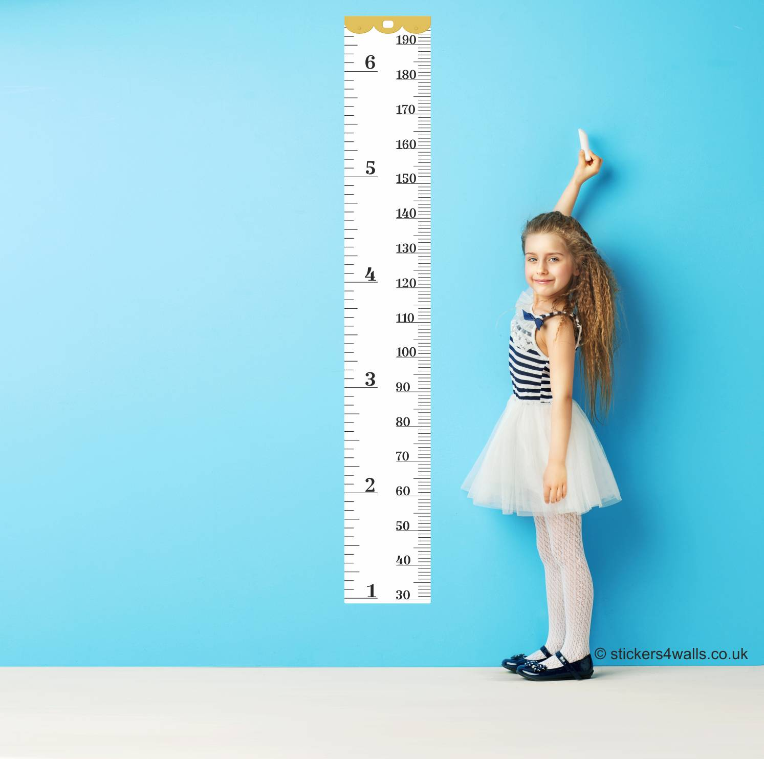 Reusable Family Tape Measure Height Chart Wall Sticker