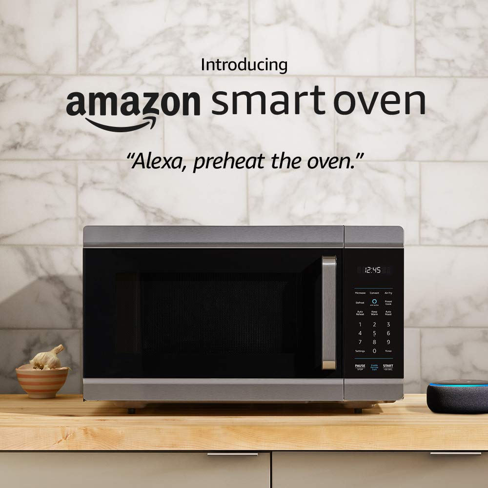 amazon smart oven 4 in 1 convection oven microwave air fryer and food warmer plus echo dot