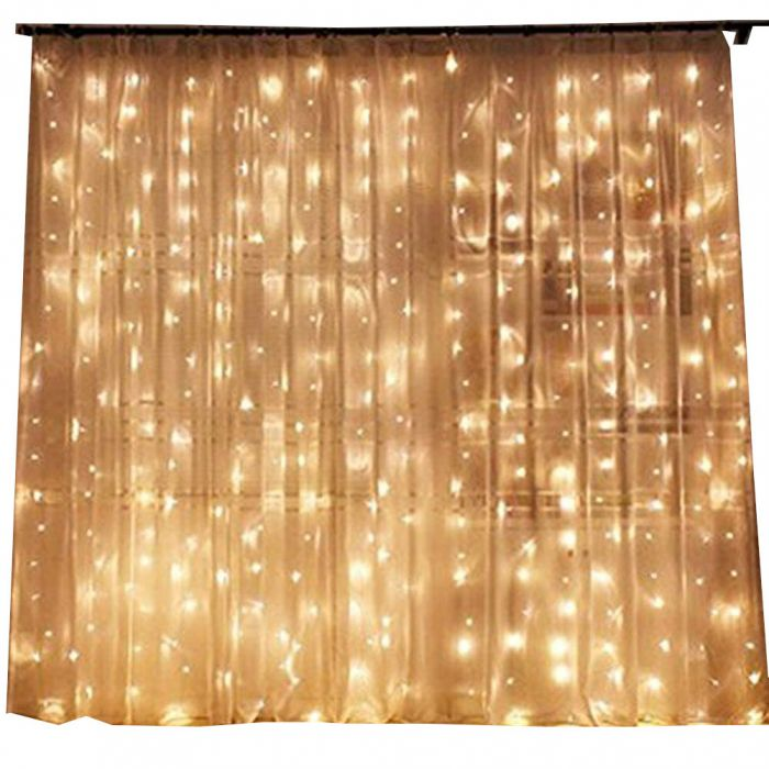 twinkle star 300 led window curtain string lights