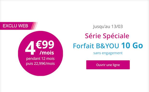 B You La Guerre Du Mobile Se Poursuit Avec Le Forfait 10 Go A 4 99 Zdnet