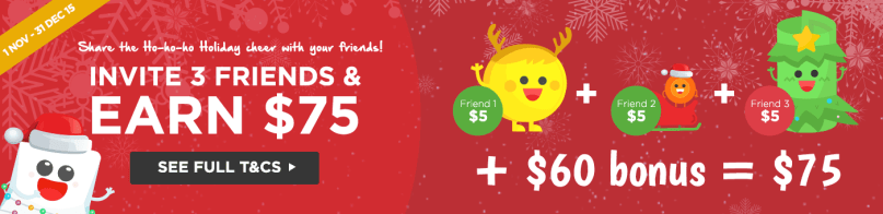 Give $5, Get $5 - Refer 3 Friends and get $75!