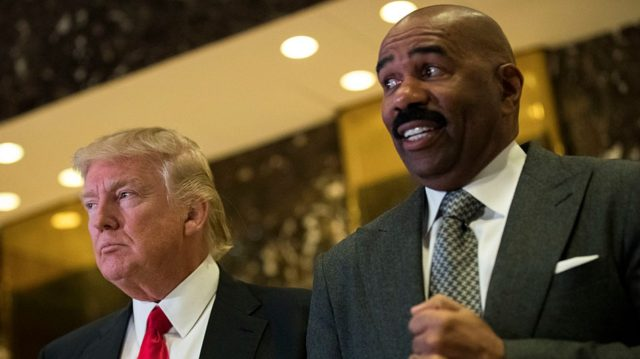 Steve Harvey Regrets Tap-Dancing For Cheeto Trump, Says Obama Egged Him On