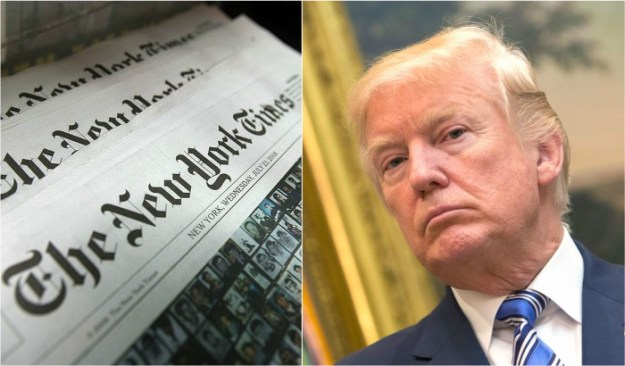 New York Times claps back after Trump says paper is failing news ny times trump