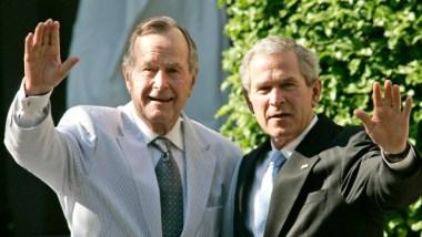 """Both Bush presidents unite to condemn 'racial bigotry"""" amid Trumpbacklash"""