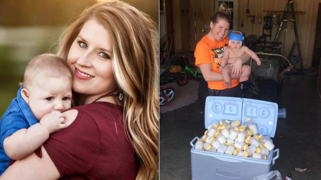 Mom donates over 1000 oz. of breast milk to Harvey victims