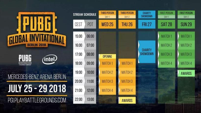 The 2018 Pubg Global Invitational Schedule