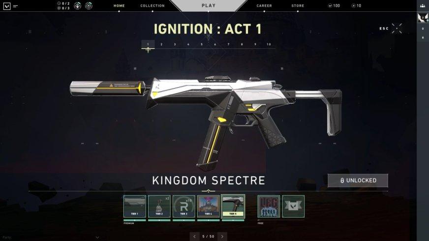 Valorant battle pass rewards for Season 1: Ignition ...