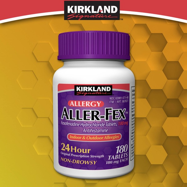 Kirkland Signature Aller-Fex 180 mg Tablets, 180 ct From ... on Kirkland Costco Pharmacy id=52398