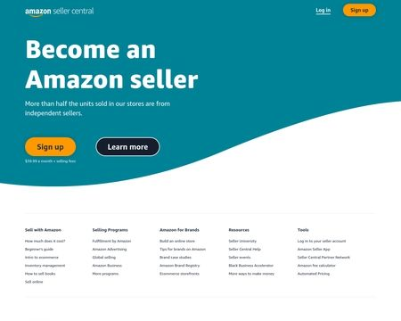 amazon seller central login page