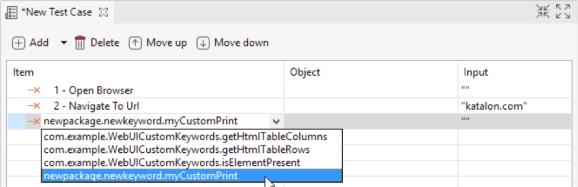 defined custom keywords