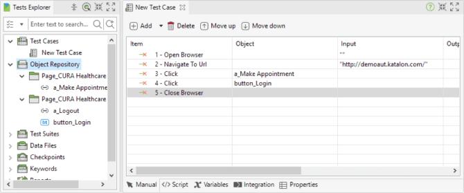 Katalon Studio Object Repository