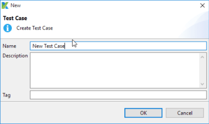 Katalon Studio new test case dialog