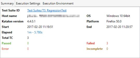 test execution summary report