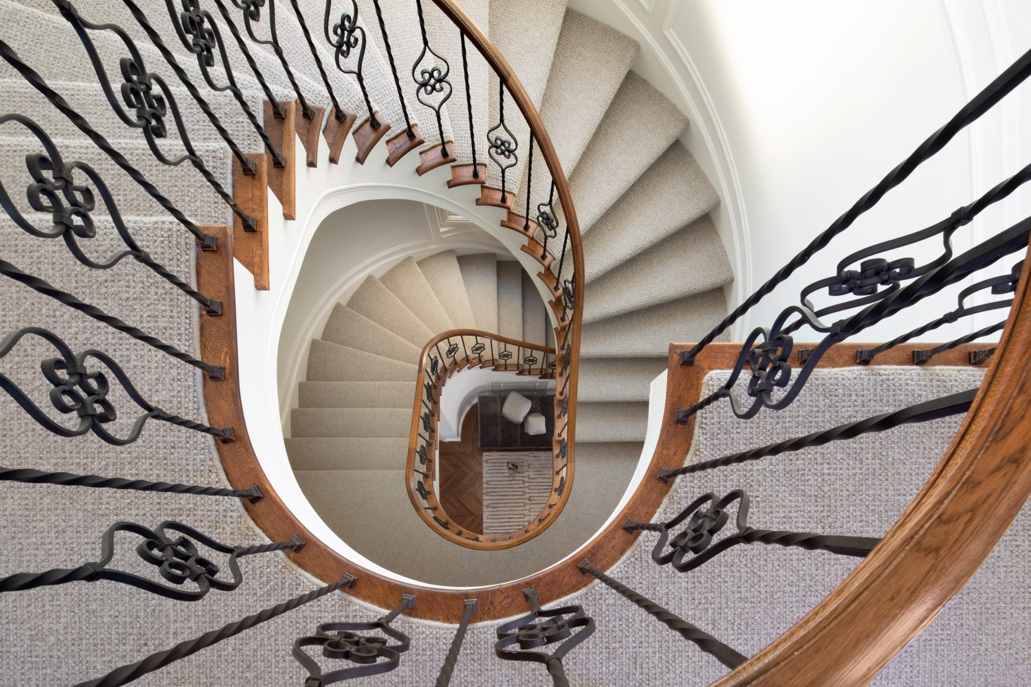 Unique Beautiful Banister Designs Chairish Blog   Reclaimed Spiral Staircase For Sale   Architectural Antiques   Wrought Iron Spiral   Architectural Salvage   Reclaimed Antique   Railing