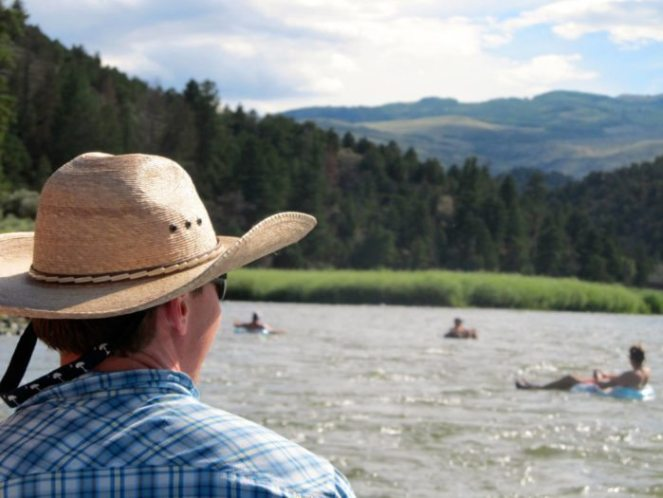 Floating on the Colorado River