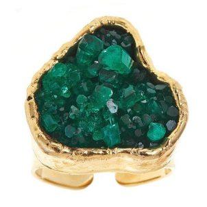 Margaret Elizabeth Emerald Cluster Ring