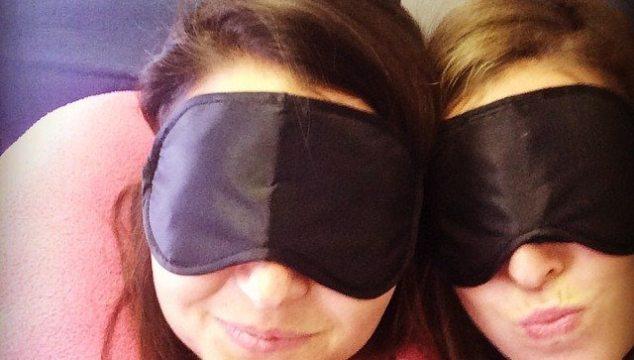 eye mask selfie