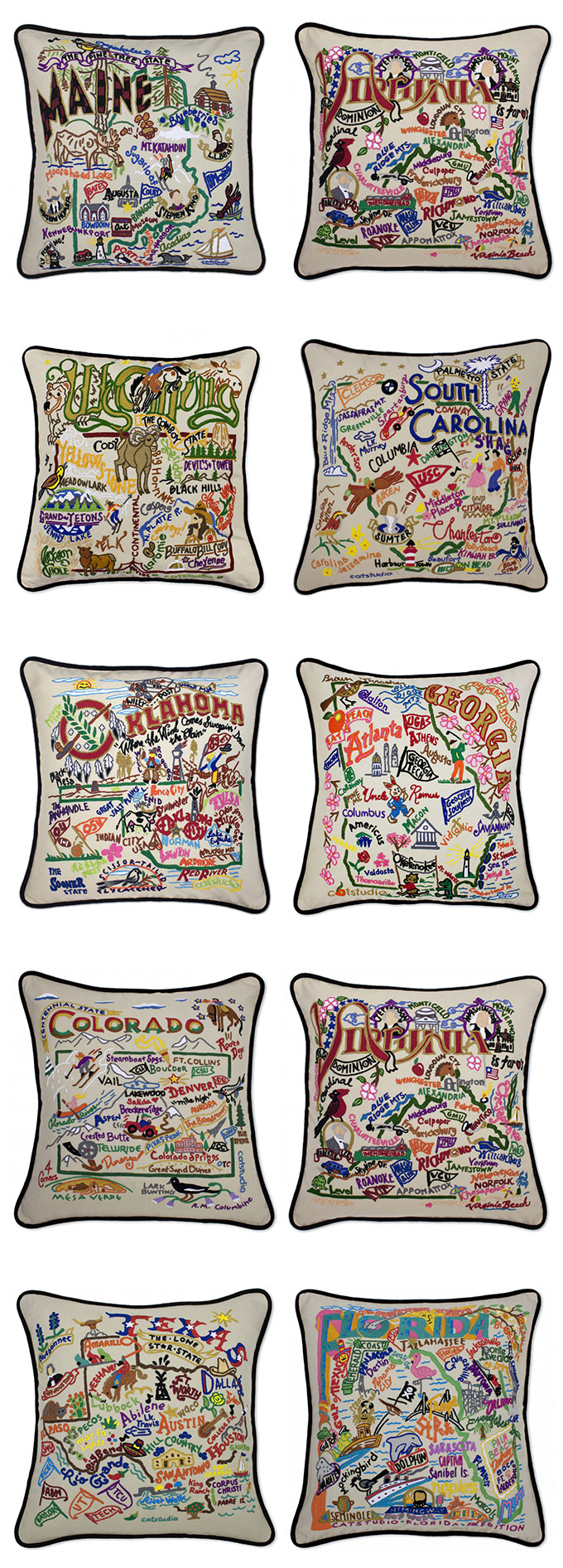 Decorative State Pillows | Gift Ideas