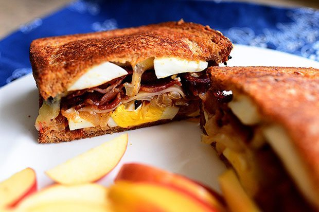Apple , Egg and Cheese Grilled Cheese  | Blue Mountain Belle