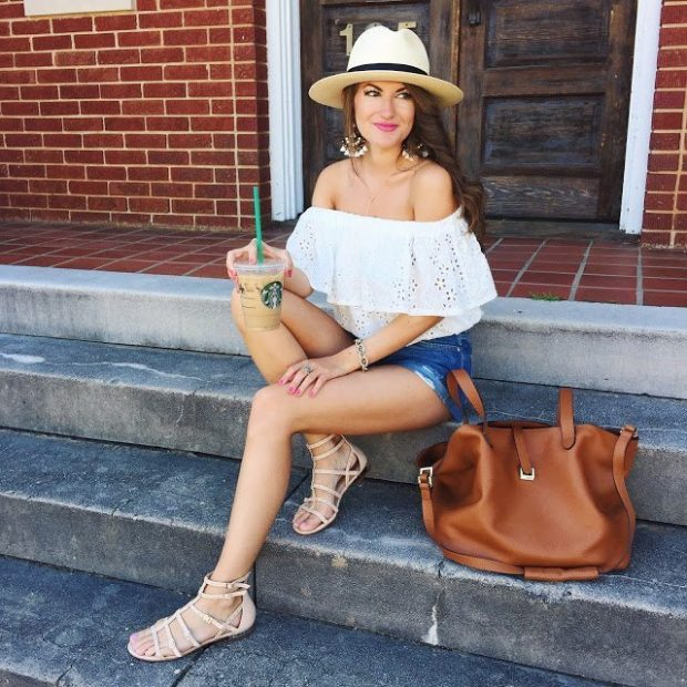 Off the shoulder shirt - Southern Girl In Pearls | Blue Mountain Belle