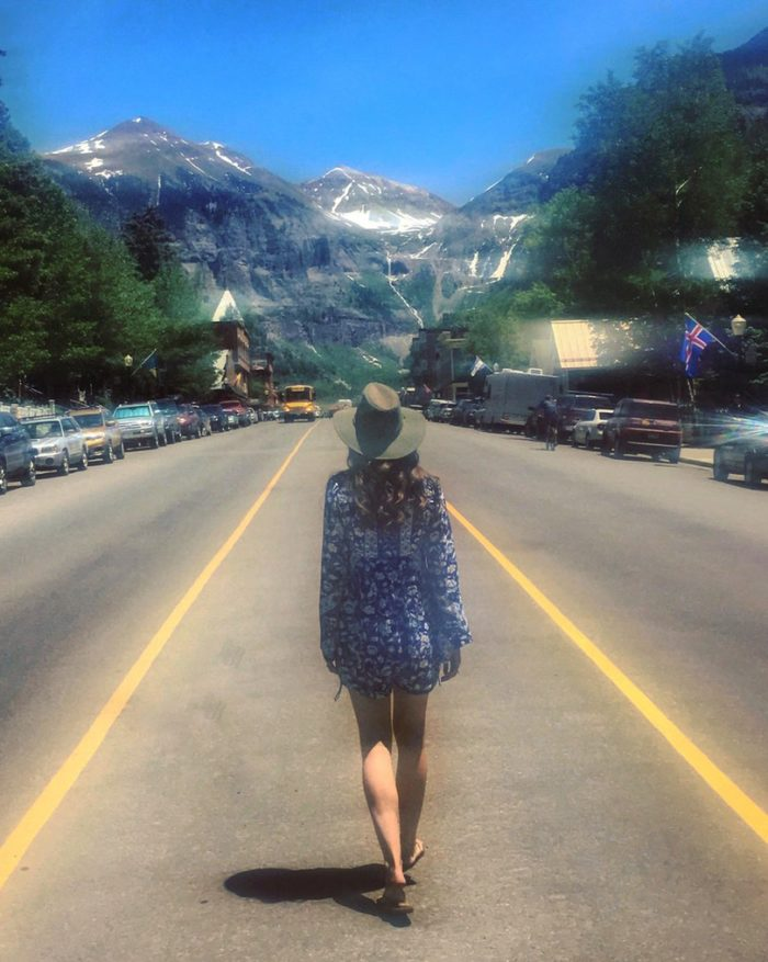Walking to Telluride Bluegrass