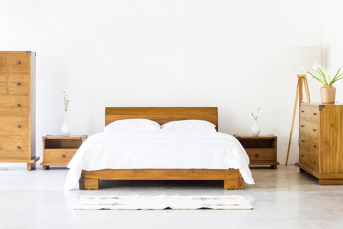 Kobe Platform Bed Danish Honey Tansu Net