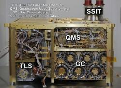 La curiosidad del SAM instrumento (NASA / JPL-Caltech)