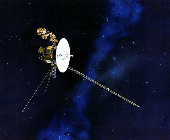 Para Voyager 2, sobre el borde de nuestro sistema solar, los métodos convencionales de navegación no funcionan demasiado bien.  Crédito: NASA