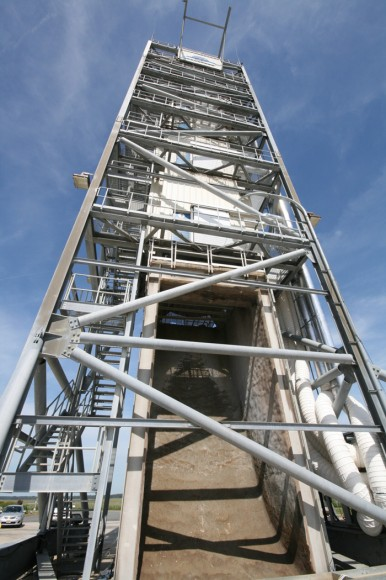 LADEE Launch Pad 0B de la NASA Wallops Flight Facility en Virginia.  Crédito: Ken Kremer / kenkremer.com