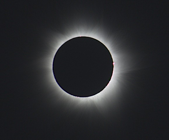 Totality! As seen during the November 13th, 2012 total solar eclipse. (Image credit: Narayan Mukkavilli, used with permission).