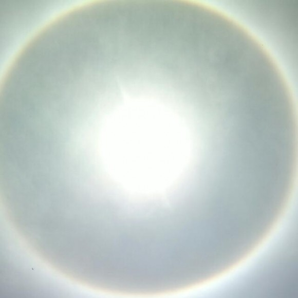 A solar halo seen over Klerksdorp, South Africa on Nov. 6, 2013. Credit:  Daniël Engelbrecht