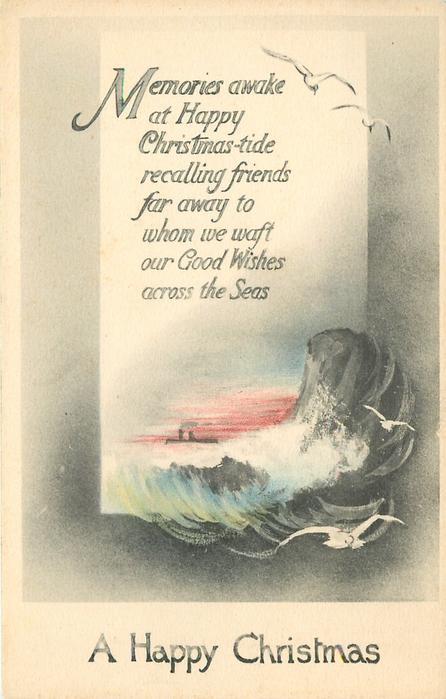 A HAPPY CHRISTMAS MEMORIES AWAKE AT HAPPY CHRISTMAS TIDE