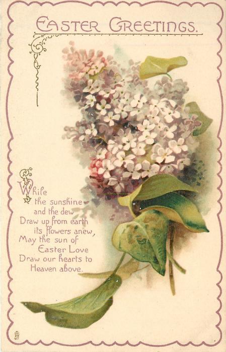EASTER GREETINGS Lilac TuckDB Postcards