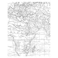 World Map Clear Stamp Set