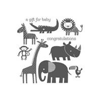Zoo Babies Wood Stamp Set