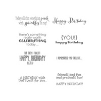 Remembering Your Birthday Clear Stamp Set
