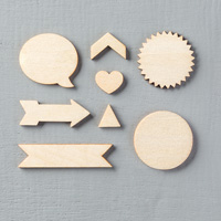 Wooden Elements Embellishments