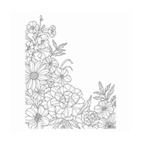Corner Garden Wood-Mount Stamp Set
