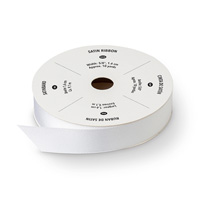 "Whisper White 5/8"" Satin Ribbon"