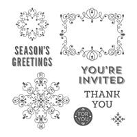 Letterpress Winter Photopolymer Stamp Set