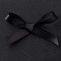 "Basic Black 3/8"" Stitched Satin Ribbon"