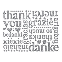 A World Of Thanks Wood-Mount Background Stamp