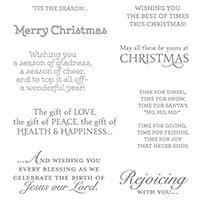 Versatile Christmas Clear-Mount Stamp Set
